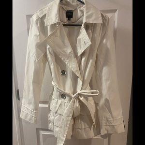 Express white trench coat size medium